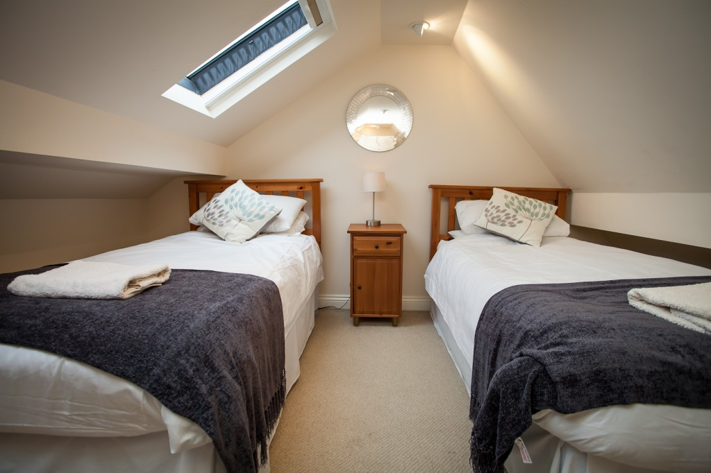 Twin bedroom at Red Lion Cottage, Teesdale